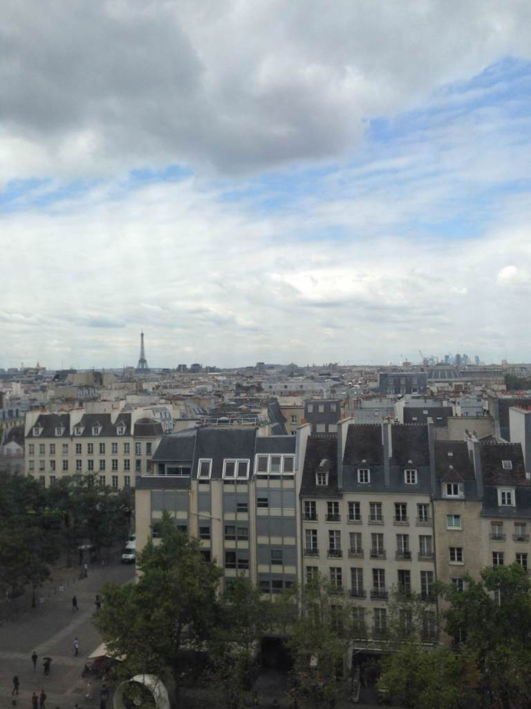 An obligatory first photo of the Paris skyline from the Centre Pompidou. Hopefully I will not post too many of these.
