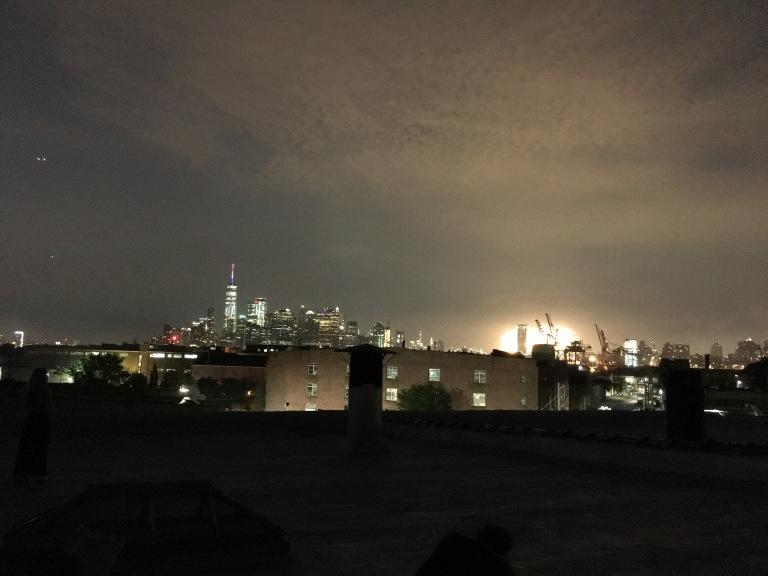 Manhattan fireworks.